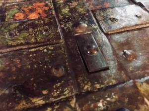 Closed key hole trap door.