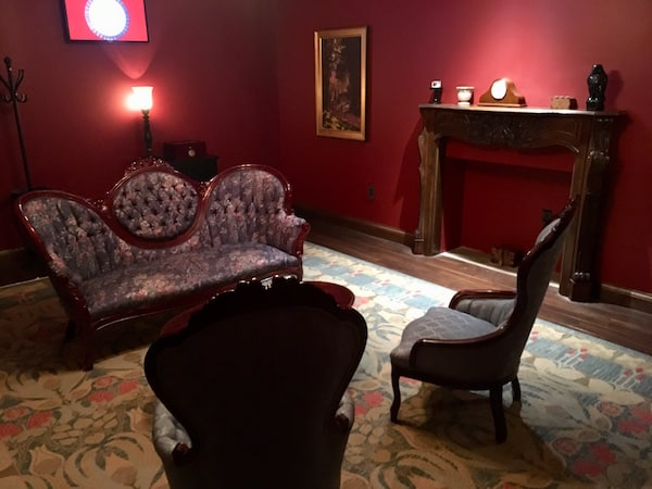 In-game: A large couch in the parlor.