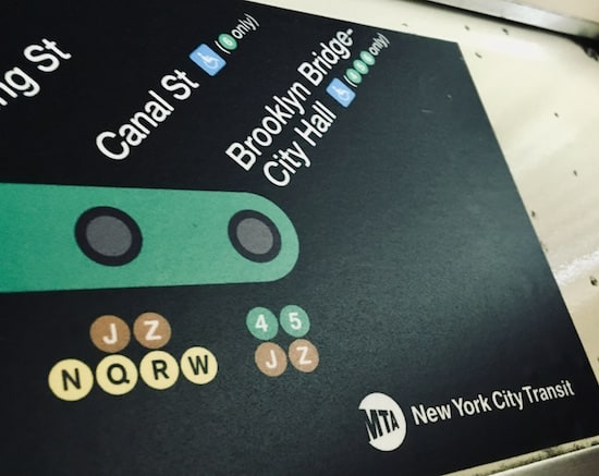 The end of the line map for the 6 train.