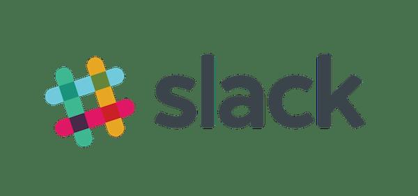 Slack's multicolor hashtag logo.