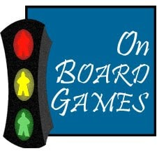 On Board Games stoplight meeple logo