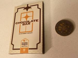 An in-world branded chocolate bar.