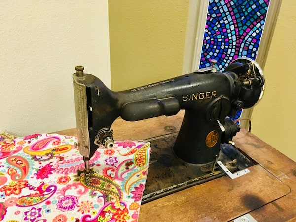 In-game: a Singer sewing machine.