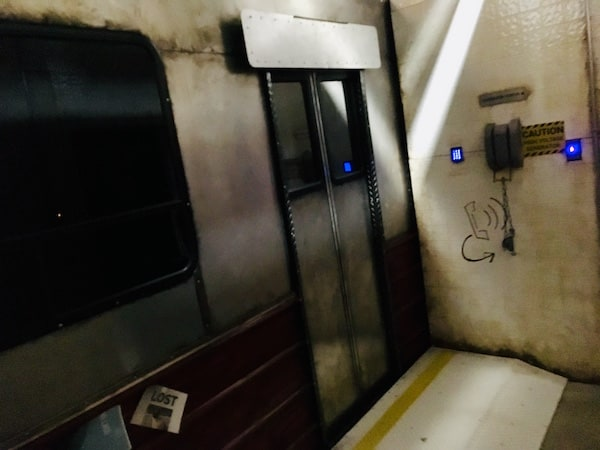 In-game: A subway platform with a train.