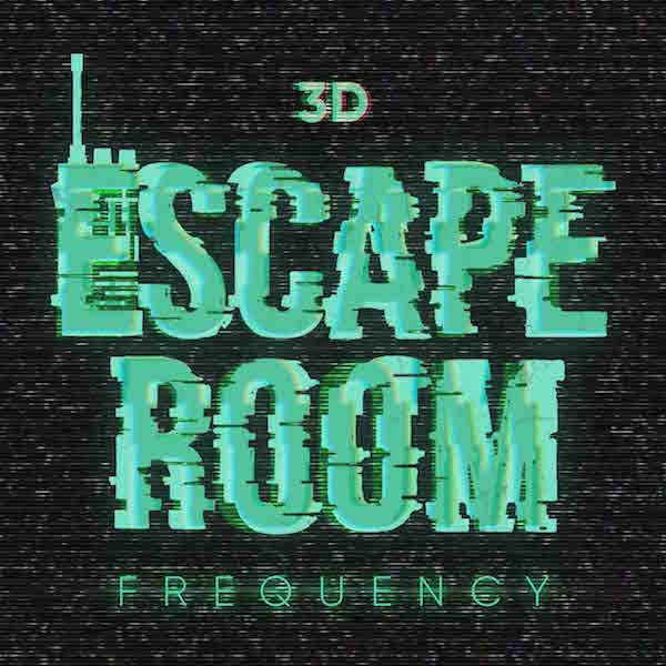 3D Escape Room Frequency's staticy logo.