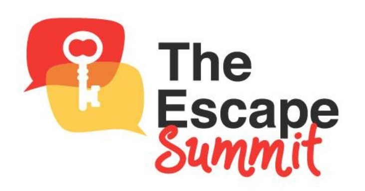 Escape Summit logo featuring a key in two conversation bubbles.