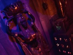 In-game: A statue of a woman in an Egyptian tomb.