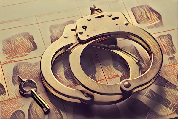 Stylized image of handcuffs.