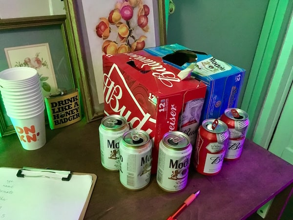 In-game: a couple 12 packs of beer.