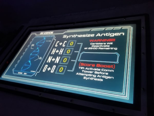 In-game: A touch screen with a molecular input.