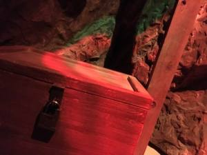 In-game: A locked crate in a cave.