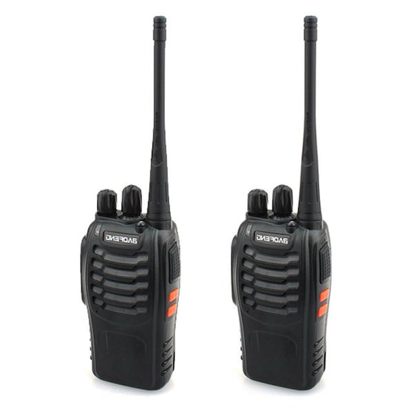 Two commonly used escape room walkie-talkies