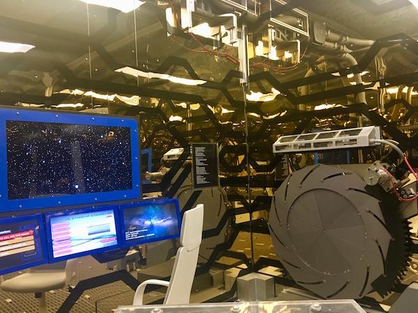 In-game: The ships helm beside and iris door.