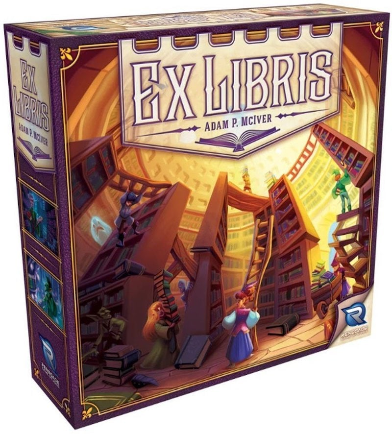 The cover of Ex Libris depicting a strange magical library.