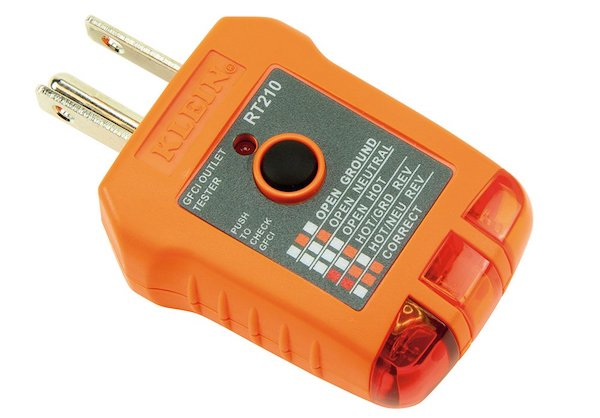A Klein RT210 outlet tester.