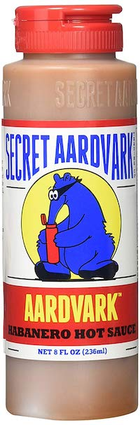 Bottle of Secret Aardvark Habanero Hot Sauce