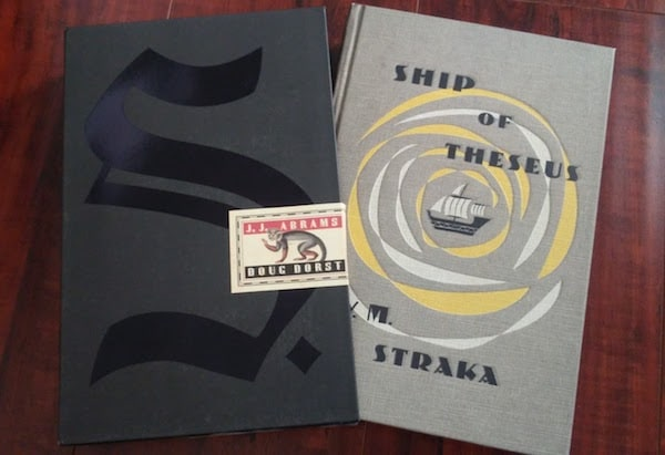 Ship of Theseus book and slipcover.