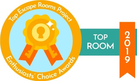 Top Room Escape Project Enthusiasts' Choice Awards 2019 logo.