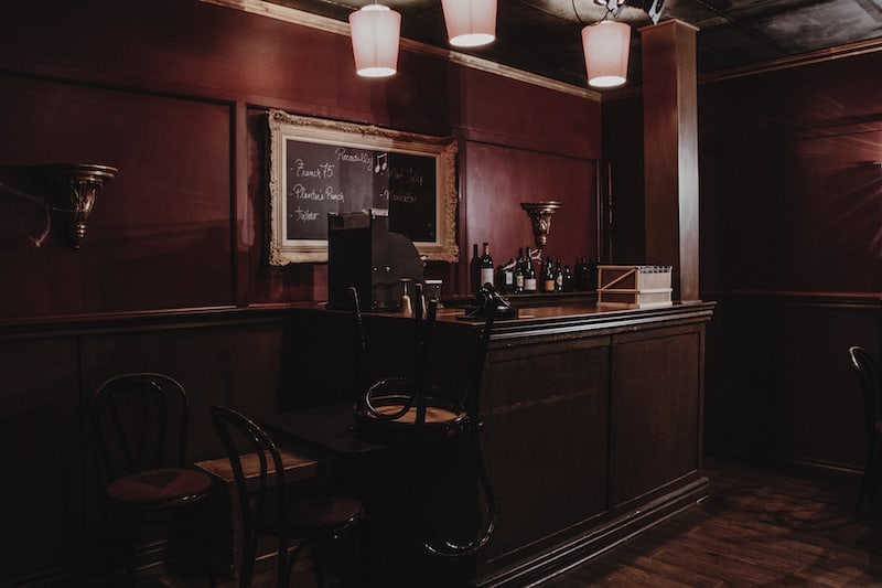 In-game: An old bar after closing time.