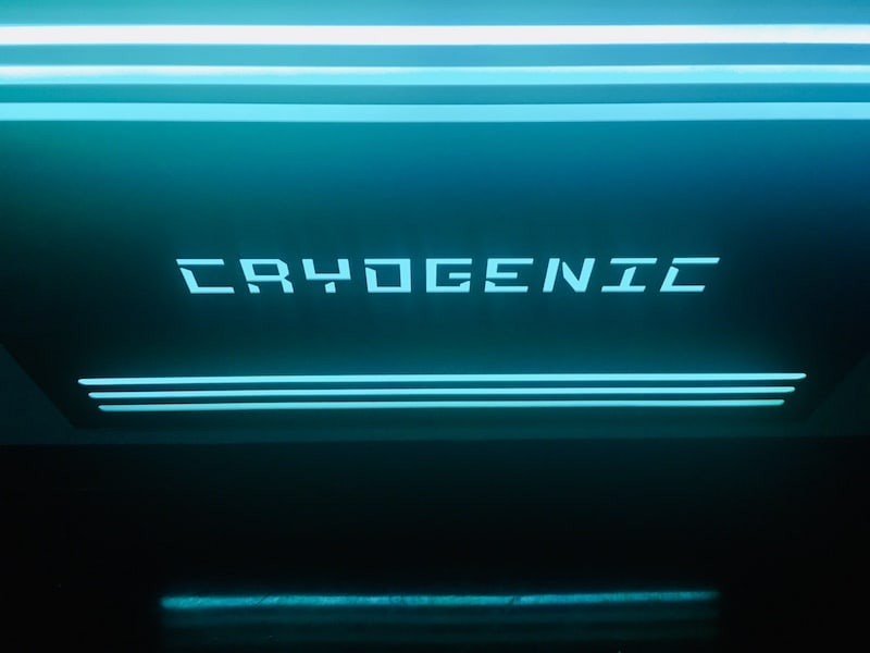 In-game: glowing cryogenic sign.