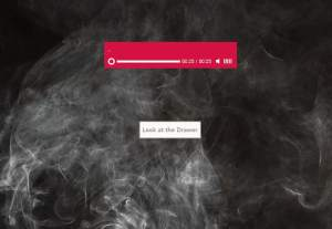 An audio player over an image of smoke.