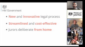 A slide from the Ministry of Justice explaining this new, cost-effectve trial method.