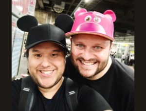 Stefan Bauer & Alex Osorio in hats with ears at Disney