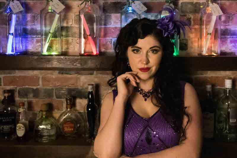 Speakeasy owner/ bartender Vivian Mae looking fabulious.