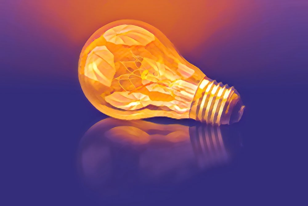 Stylized image of a light bulb