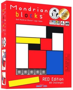Mondrian blocks logic puzzle box.