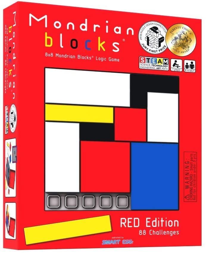 Mondrian blocks logic puzzle box.