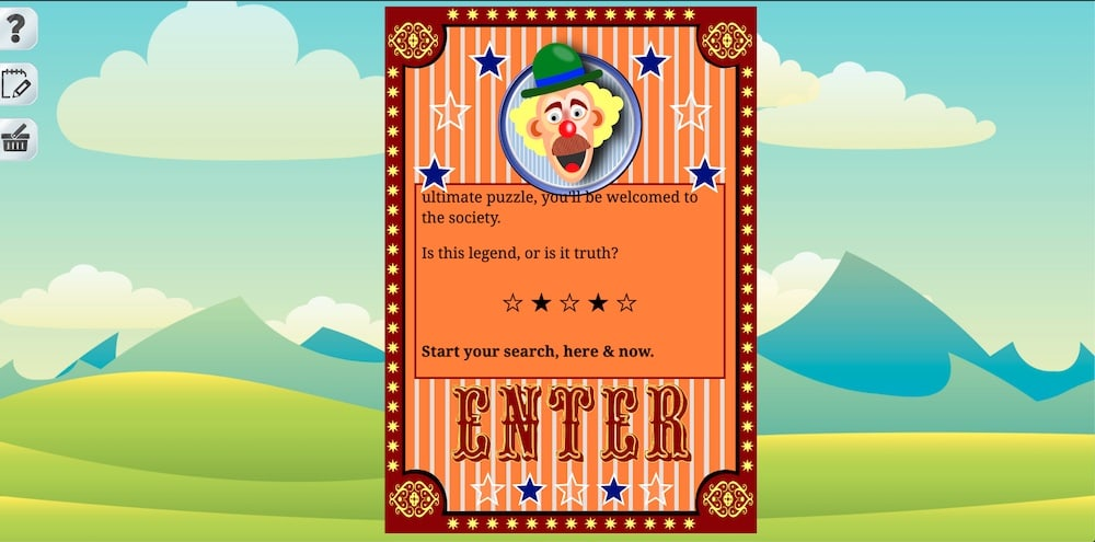 An intro to the carnival challenging the player to determine if a legend is true.