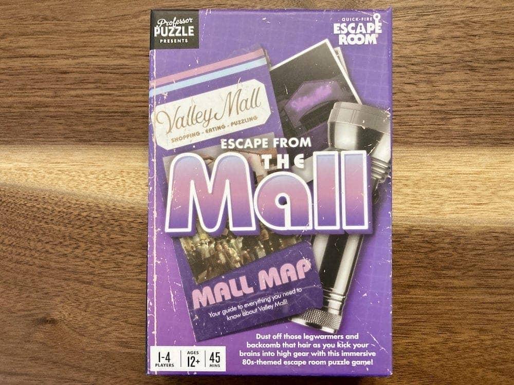 Escape From the Mall purple, 80s box art.