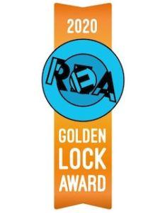 2020 Golden Lock Award Ribbon