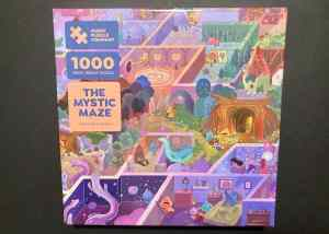 Box art for The Magic Puzzle Company's The Mystic Maze 1000 piece jigsaw puzzle.