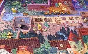 Puzzle closeup of segments of the Mystic Maze.