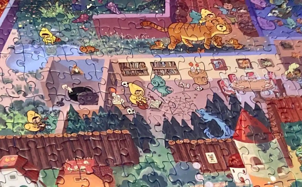 Puzzle closeup of segments of the Mystic Maze.