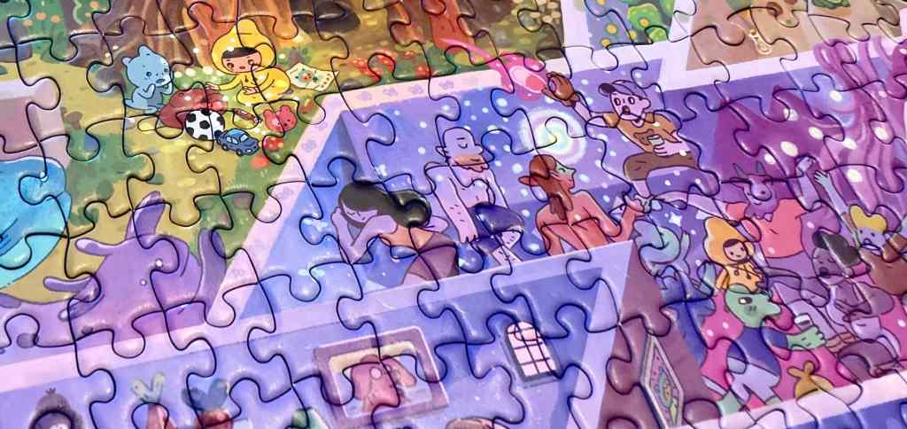 Puzzle closeup of the Mystic Maze