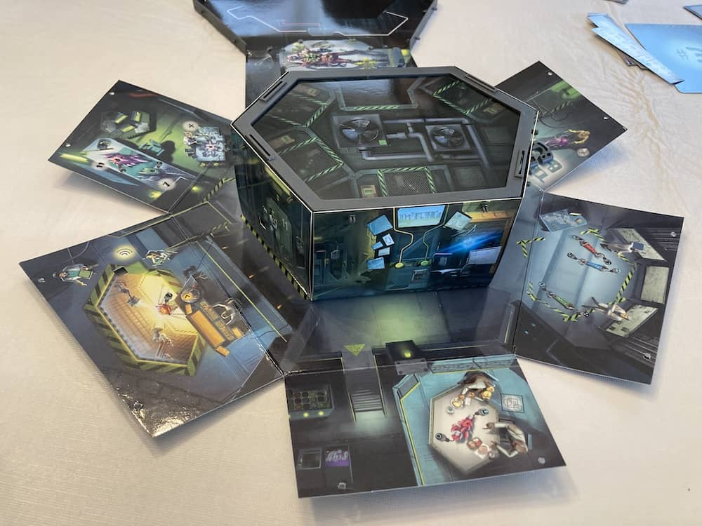 Opened Area 51 game with side panels unfolded.