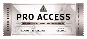 Silver RECON Pro Access ticket - date: August 22-23, 2021.