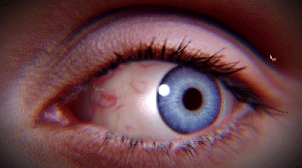 Closeup image of an eye.