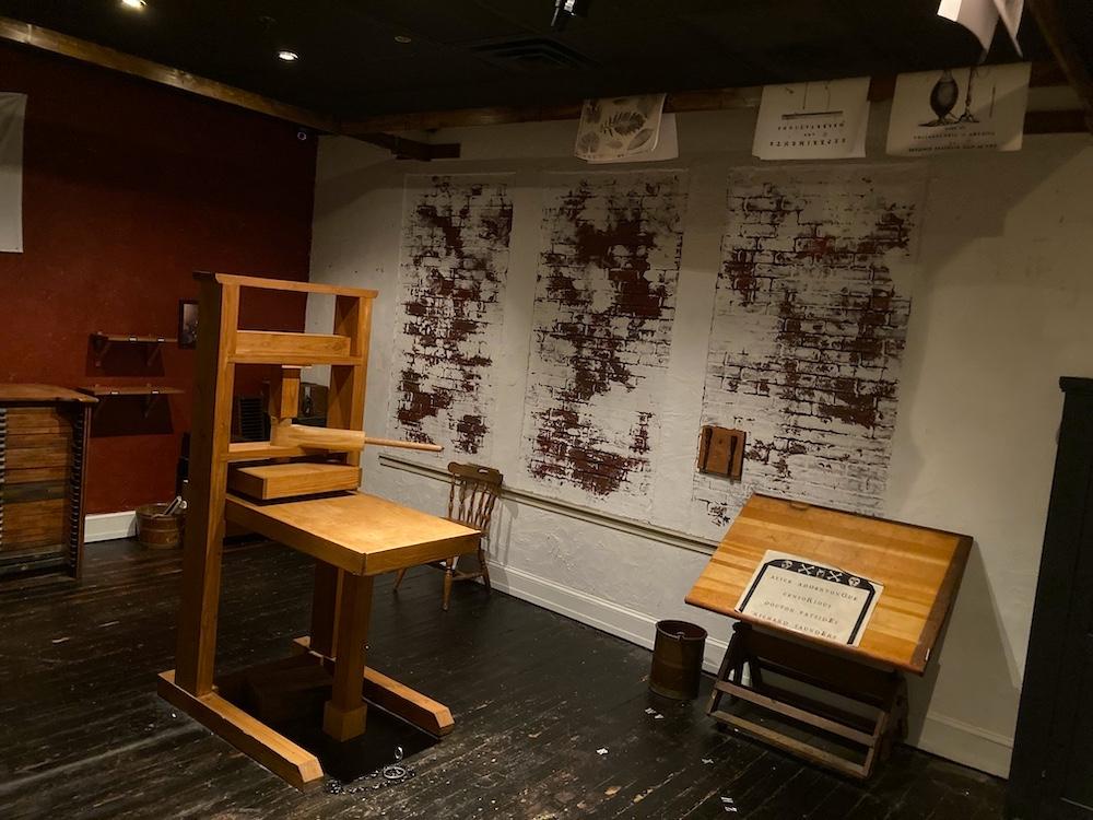 Ben Franklin's secret print shop.