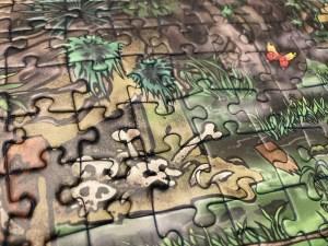 Skulls in a swamp-like environment.