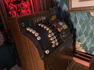 An old cash register.