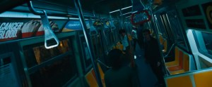 Escape Room movie scene on a NYC subway car.