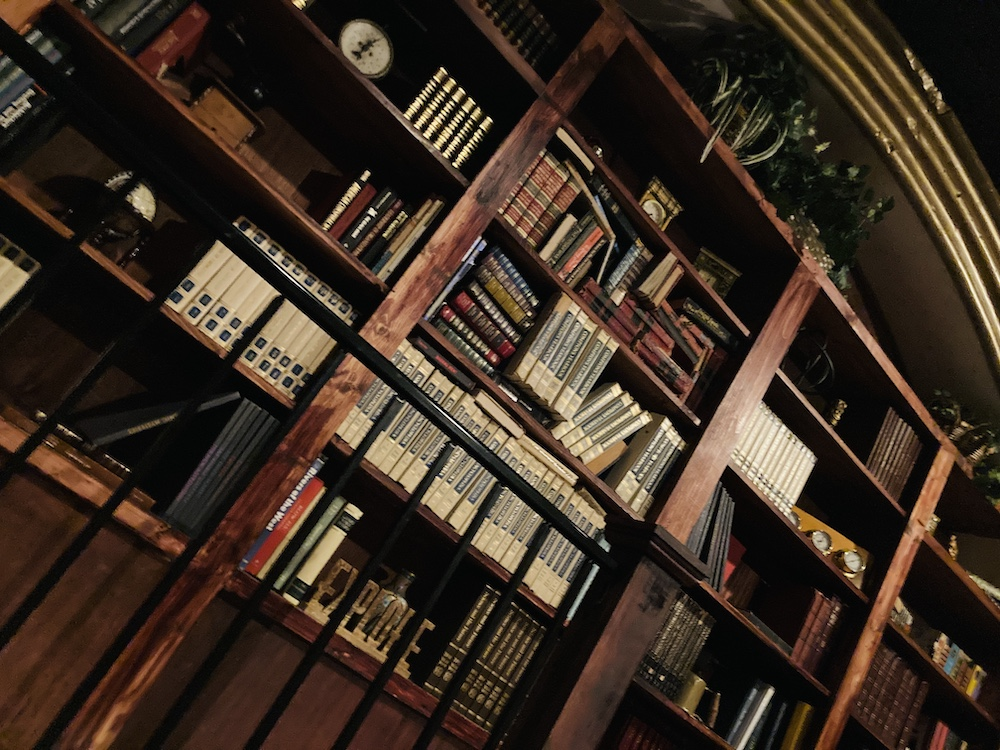 A large and beautiful bookcase.