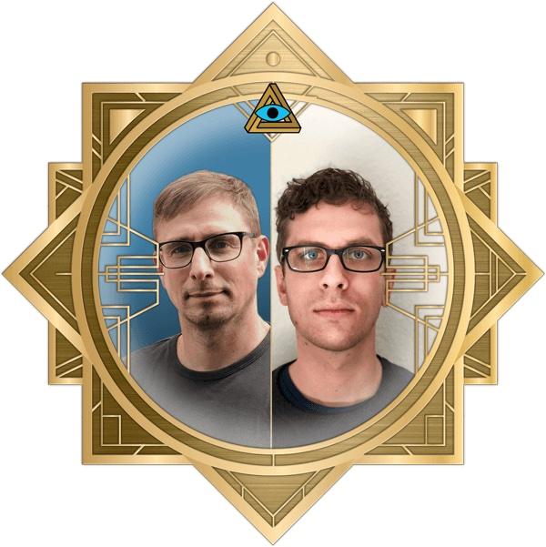 Chris & Malte in the art deco RECON frame.