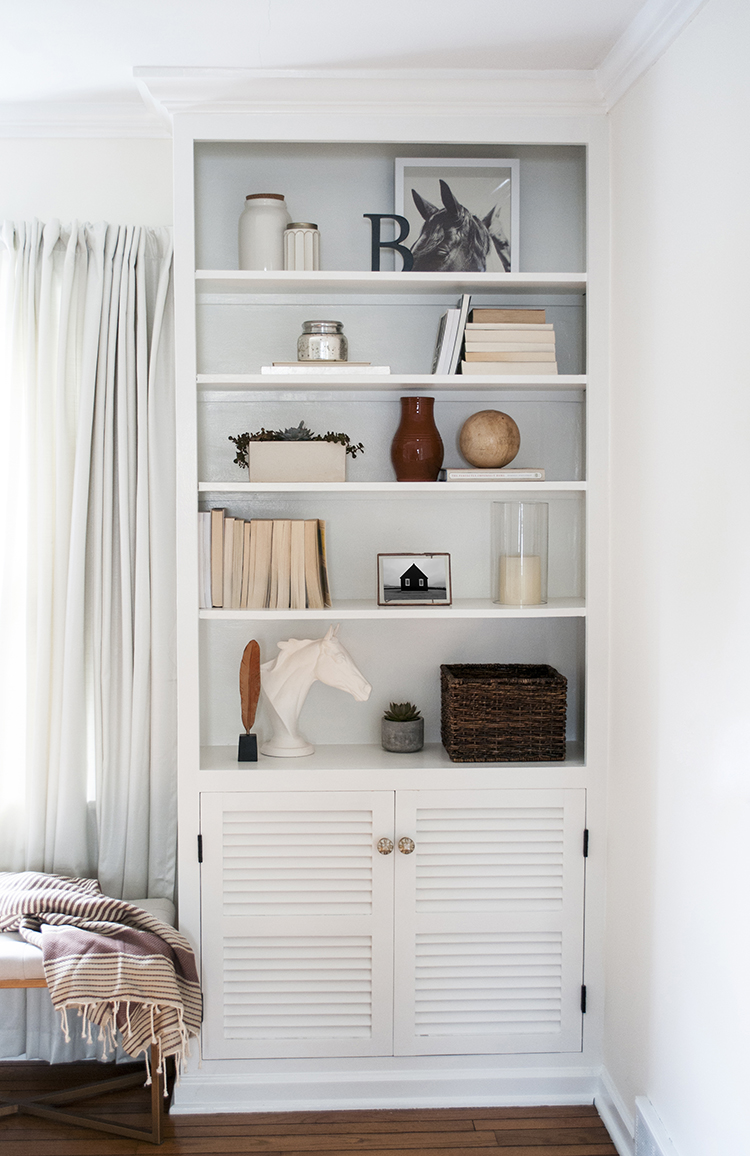 Bookshelf Styling 4 Ways