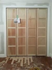 bifold closet doors shaker style