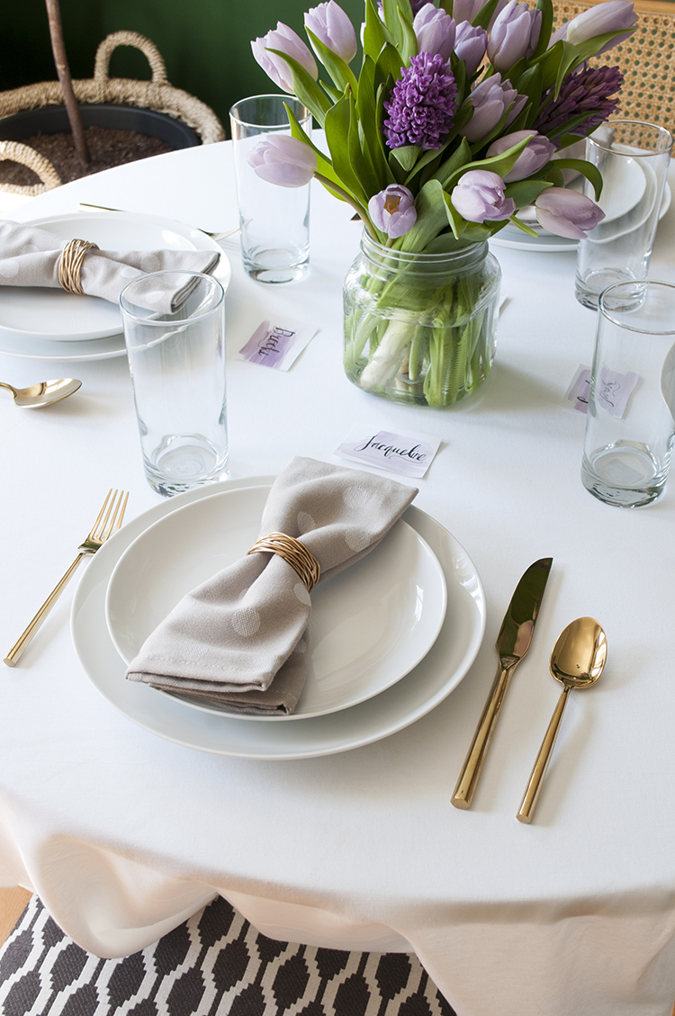 easter brunch table setting
